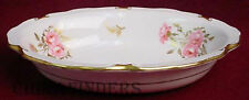 ROYAL CROWN DERBY china PINXTON ROSES pttrn Oval Vegetable Serving Bowl @ 9 1/8""