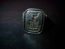 Wappenring 830 Silber-Tauben-Sterne -Turnierkette-Adler-Flügel-Eichenlaub1920-50