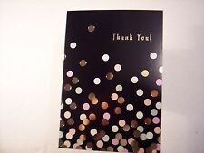 Thank You Note Cards 12 Black Polka Dot Foil Business Professional Loose
