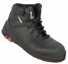 MENS SIZE 10.5 JALLATTE JALBADGER BLACK COMPOSITE PLASTIC SAFETY TOE WORK BOOTS