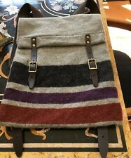 """Steven Alan Wool/ Leather/ Brass SCOUT Backpack 18"""" By 14"""". Great Item, Rare!"""