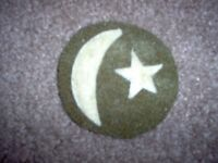 WWI US Army Camp 19th Division Patch wool