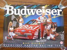 Bill Elliott Budweiser Ford Thunderbird Nacar Racing Team 20x28 Poster 1992