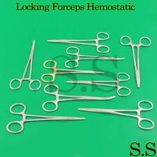 Locking Forceps Artery Hemostatic Clamp Kelly + Mosquito + Pean + Mayo Hegar New