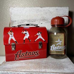 Vintage Kraft Houston Astros Lunch Metal Tin & Plastic Water Bottle Brand New