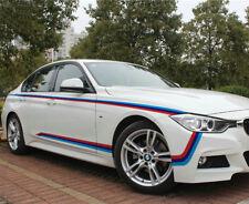 Tricolor Graphics M Sport Car Sticker Waist Line Stripe Decal For BMW 2 PCS