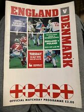 1990 England V Denmark Wembley Football/soccer Programme