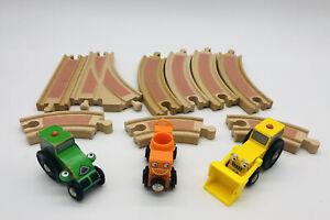 BRIO Bob the Builder Wooden Track Construction Set 12pc Lot Dizzy Roley Scoop