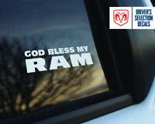 Gott segne My DODGE Ram Fenster Aufkleber Grafik