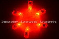 48 Led Red Balloon Paper Lantern Light Wedding Christmas Party Floral Decoration