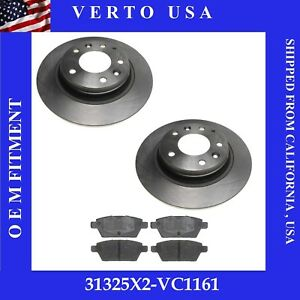 Rear Brake Rotors & Ceramic Pads For Ford,Lincoln, Mazda, Mercury Based on Chart