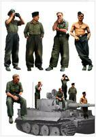 1/35 Scale German Tiger Tank Crew WW2 Resin Model Kit WWII (5 Figures)