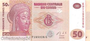 Congo Dem. Rep. 50 Francs 2013 Unc pn New