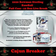MIAMI MARLINS *FULL CASE 12 BOX LIVE BREAK* 2020 BOWMAN STERLING