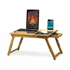 Morvat Adjustable Bamboo Lap Desk with Built-in Mouse Pad