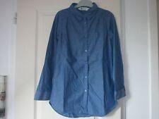 Chemise jeans H&M manches longues fille 9/10 ans NEUVE