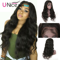 "UNice Brazilian Body Wave Human Hair Lace Front Wigs For Black Women Full Wig16"""