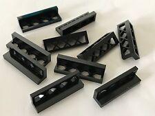 *NEW* 10 Pieces Lego BLACK Fence Train Castle 1x4x1