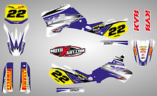 Yamaha YZ 80 1993 - 2001  Full  Custom Graphic  Kit - SHOCKWAVE Style / stickers