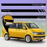 Bus Seiten-Streifen Aufkleber-Set, Dekor-Sticker komp. mit VW T5 T6 - WUNSCHTEXT