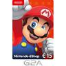 Nintendo eShop Tarjeta Prepago 15 EUR - Switch WiiU Código €15 ES