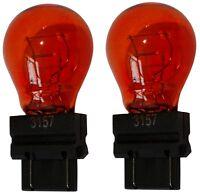 2 Ampoules 12V 3157 W2.5x16Q P27/7W Orange Ambré