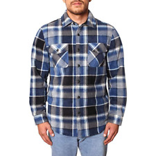 Freedom Foundry Mens Plaid Sherpa Lined Flannel Jacket Ensign Blue SIZE L NWT Uf