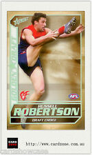 2005 Select AFL Dynasty Grand Redemption Golden Draft DC10 R. Robertson (Melb)