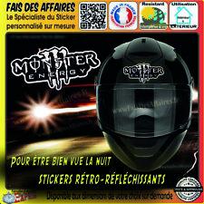 Stickers Autocollant adhésif Monster retroreflechissant casque réservoir etc