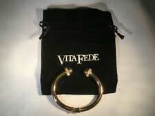 Vita Fede Crystal Ball Bangle Bracelet 24K ROSE GOLD Plated Small
