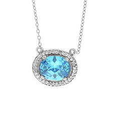 Sterling Silver. 925 Labadorite Stone Necklace. Designer Inspired. Chain & Charm