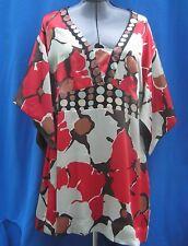 Size 18 Monsoon Silk Tunic With Kimono Type Sleeves - Colours