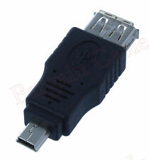 5 Pack Lot - USB A Female to Mini USB B 5 Pin Male Adapter (AUA2-MN51-5PK)