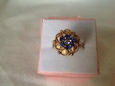 EXQUSITE 18ct YELLOW GOLD RING size N