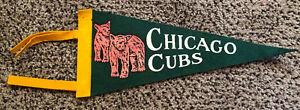 Vintage 1950's Chicago Cubs MLB Baseball Pennant Mini Felt With Tassles