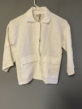 Essence Girl's White Linen Top Size 12 Years