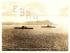 PRE WWII 8X10 PHOTOGRAPH OF USS SARATOGA & USS LEXINGTON OFF DIAMOND HEAD USN