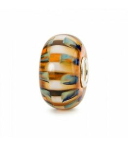 TROLLBEADS Glas People's Bead 2021 Egyptian Stripe TGLBE-20286 NEU