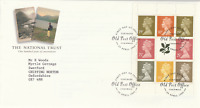 25 APRIL 1995 NATIONAL TRUST PANE ROYAL MAIL FIRST DAY COVER TINTAGEL SHS