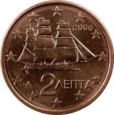 GREECE - 2 EURO CENTS - 2006 - CORVETTE SAILING SHIP - UNC