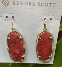 Kendra Scott Elle Drop earring Bronze Veined Magnesite Gold Tone