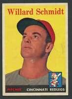 1958 Topps #214 Willard Schmidt EX/EX+ Reds 21767