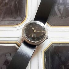 PRONTO SWISS WRIST WATCH 1940S WWII 2 MILITARY NO DH RLM BLACK DIAL SMALL LADIES