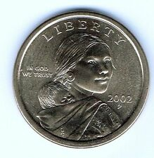 2002-P $1 Brilliant Uncirculated Business Strike Sacajawea Dollar Coin!