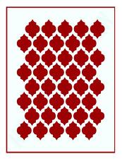 Gitter Muster-Schablone Orient Nr.2 ● für Hintergründe auf Wand/Möbel/Textilien