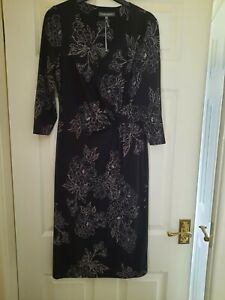Laura Ashley Black Dress Size 10 Bnwt