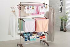 6 Tiers Movable Extra Large Clothes Horse Airer Laundry Drying Hanging Rack