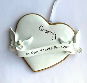 In Our Hearts Memorial Remembrance Christmas Tree Grave Decoration Personalised