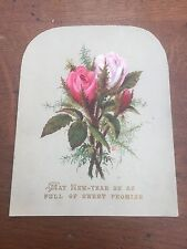 victorian 1890s new year card ! sweet promise