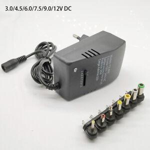 Adjustable Charger Multi Voltage Power Supply AC 220V TO 12V DC 9V 6V 7.5V 5V 3V